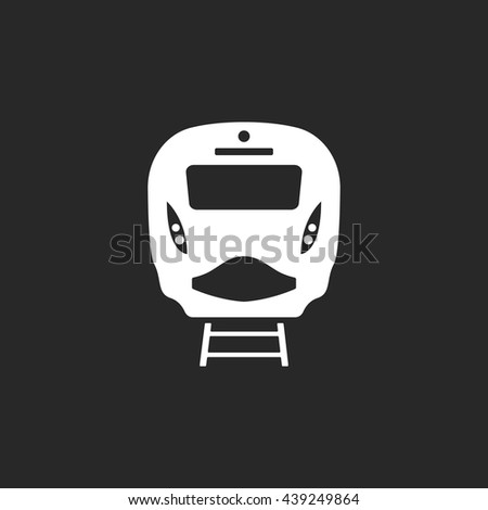 Passenger train front sign simple icon on background