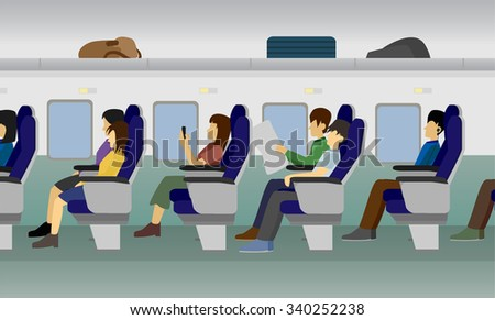 Passenger Train vector - stock vector