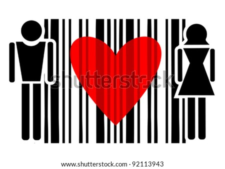 Passion code - stock vector
