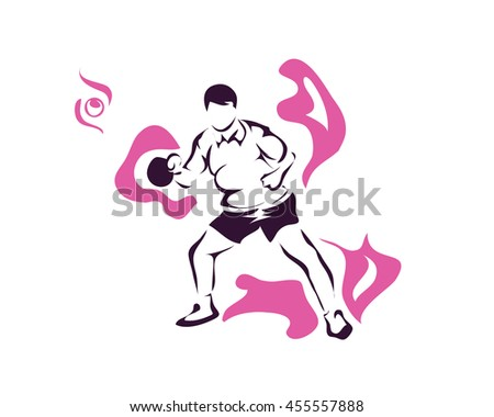Passionate Sports Athlete In Action Logo - On Fire Experienced Table Tennis Player