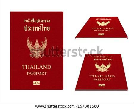 Passport Illustration for Thailand - stock vector