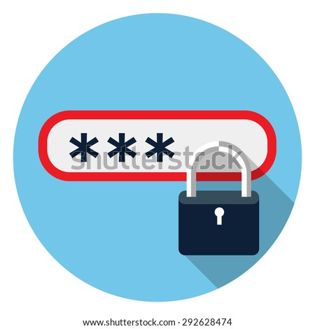Password protected icon - stock vector