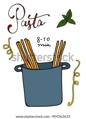 Pasta cooking illustration