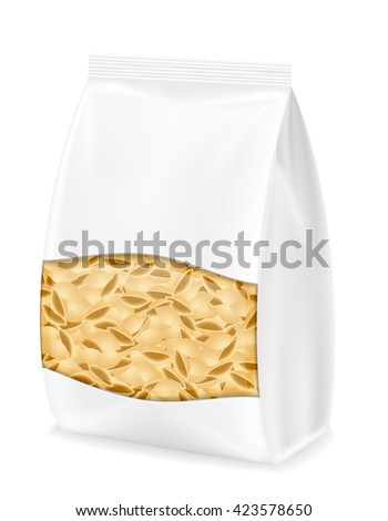 pasta in packaging vector illustration isolated on white background - stock vector
