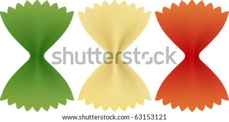 Pasta Italian green, white and red - stock vector