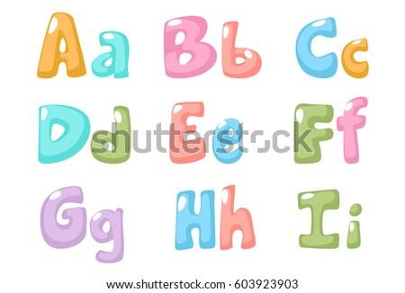 Pastel Color Kid Font Part 1