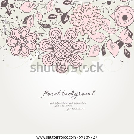 Pastel floral background - stock vector