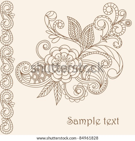 Pastel greeting card - stock vector