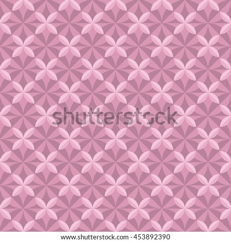 pastel pale color floral tile. vintage retro style geometry seamless pattern. vector illustration of repeatable motif - stock vector