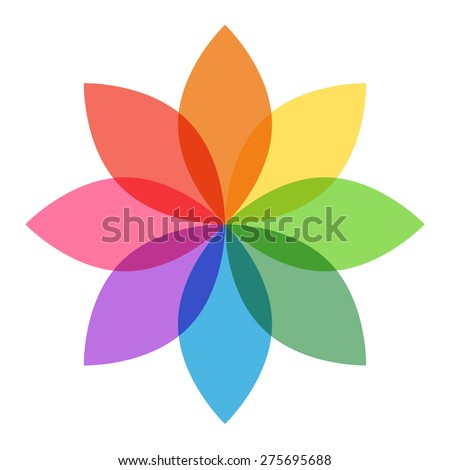 Rainbow Flowers Stock Images Royalty Free Vectors