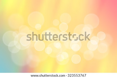 Pastel retro vector orange green blurred bokeh abstract background