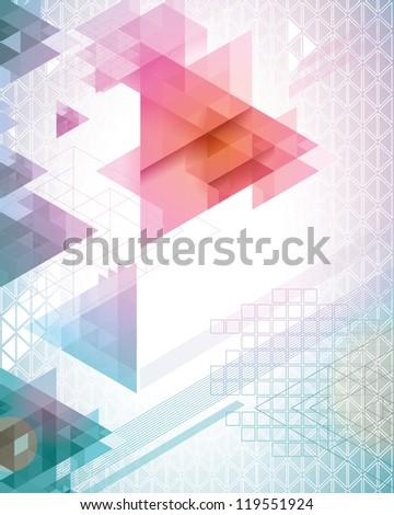 Pastel Triangles - stock vector