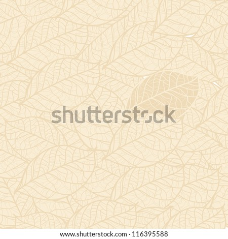 pastel vector seamless pattern of autumn leaves for your design - stock vector