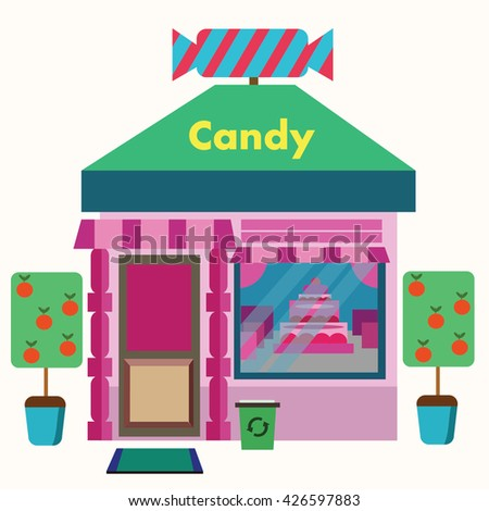 Pastry Shop. Flat style vector illustration