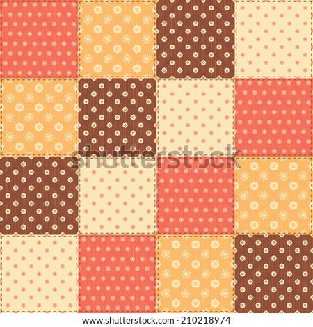 Patchwork seamless pattern - stock vector