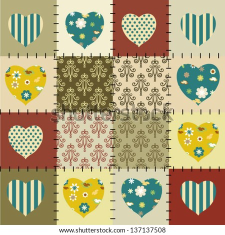 patchwork vector background