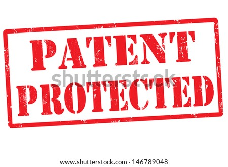 Patent protected grunge rubber stamp, vector illustration - stock vector