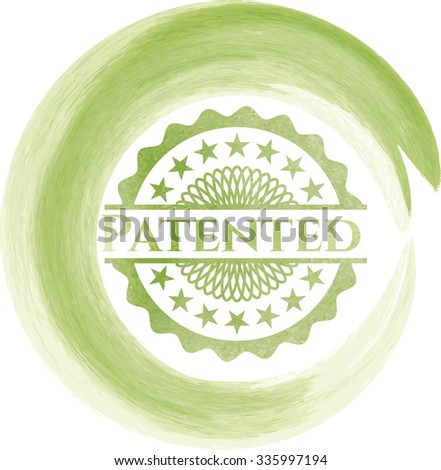 Patented aquarelle or watercolor style - stock vector