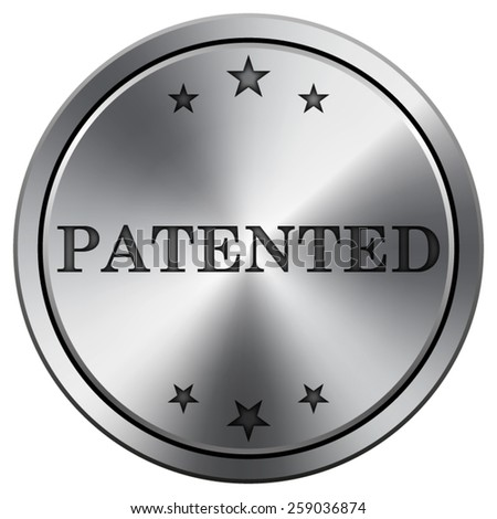 Patented icon. Internet button on white background. EPS10 Vector.  - stock vector