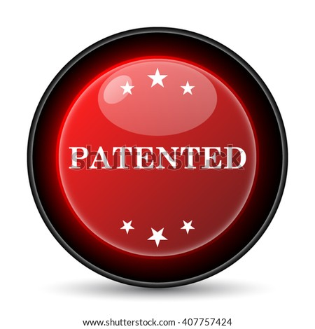 Patented icon. Internet button on white background. EPS10 vector - stock vector