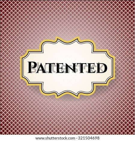 Patented poster - stock vector