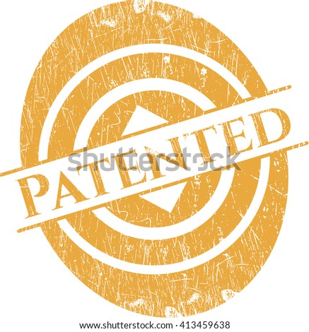 Patented rubber grunge stamp - stock vector