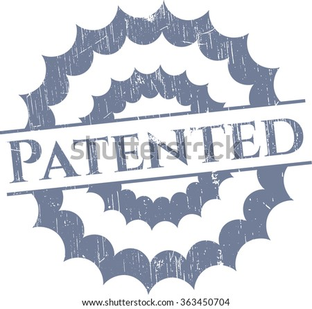Patented rubber stamp - stock vector