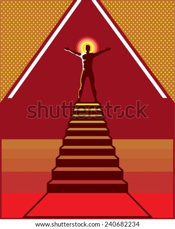 Path to Enlightenment  - stock vector