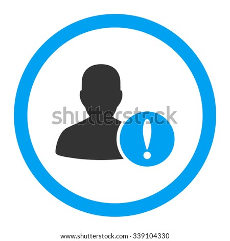 Patient Problem vector icon. Style is bicolor flat rounded symbol, blue and gray colors, rounded angles, white background. - stock vector