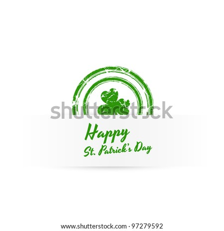 Patrick's Day Grunge Banner - stock vector