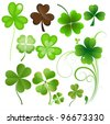 Patrick's Day Leaves - stock vector