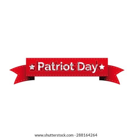 Patriot day ribbon - stock vector