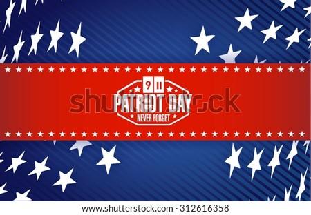 Patriot Day star banner background illustration design graphic - stock vector