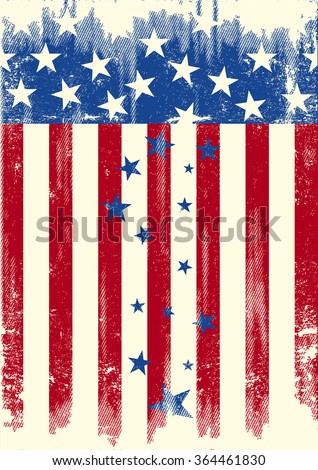 Patriot rain of stars. The Stars are falling of the american flag. is it the decline of the USA... - stock vector
