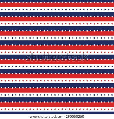 Patriotic Background Pattern For Independence Day In Red White And Blue Seamless Geometric 4th