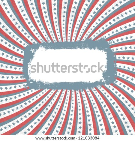 Patriotic background with grunge label. Vector, EPS10 - stock vector