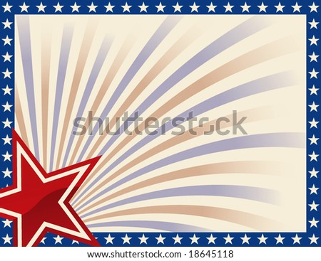 Patriotic Frame with Stars