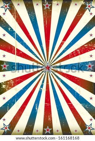 Patriotic sunbeam vintage background. A vintage poster with sunbeams for you. - stock vector
