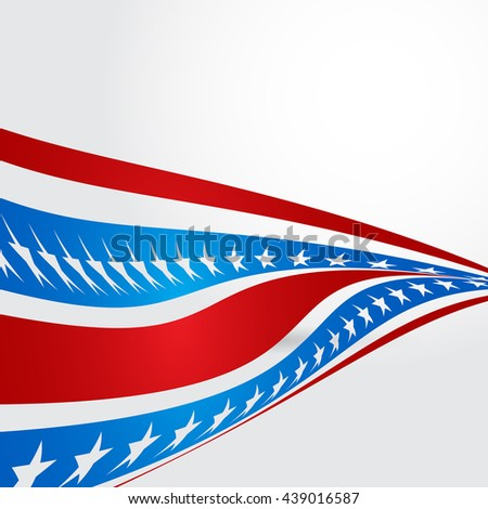 Patriotic wave background. 4th july american independence day abstract background. fourth july backdrop. vector illustration