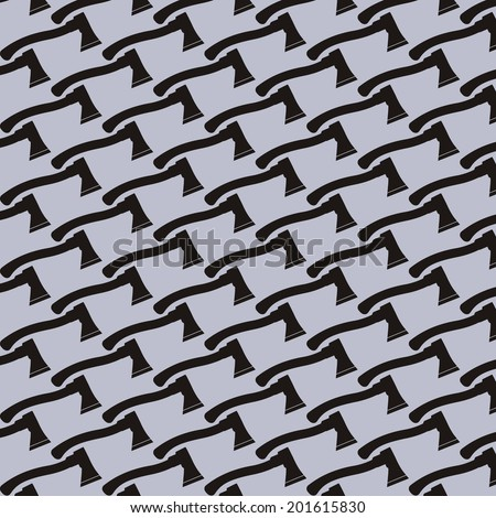 Pattern background of axe on white