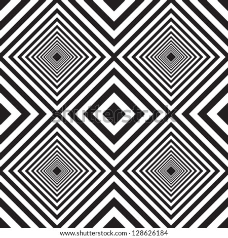 Pattern black & white - stock vector