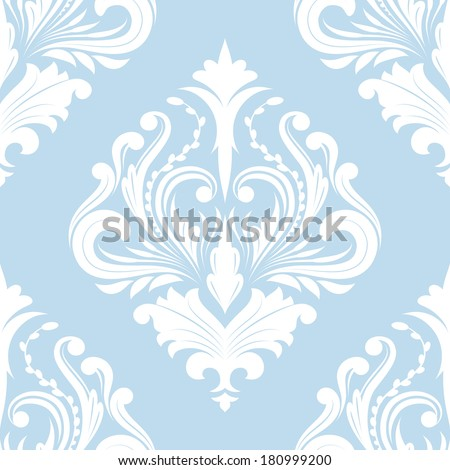 Pattern Blue Classic - stock vector