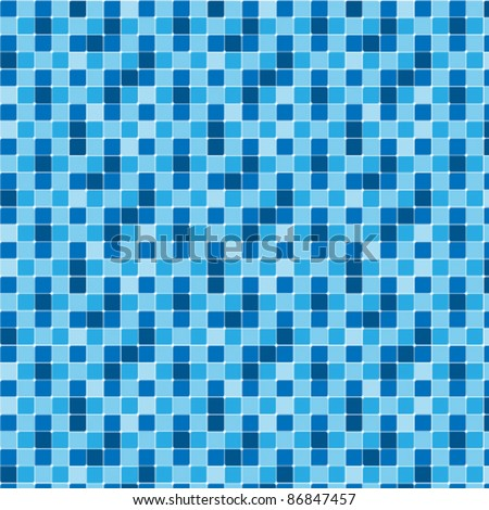Pattern blue tiles texture - stock vector