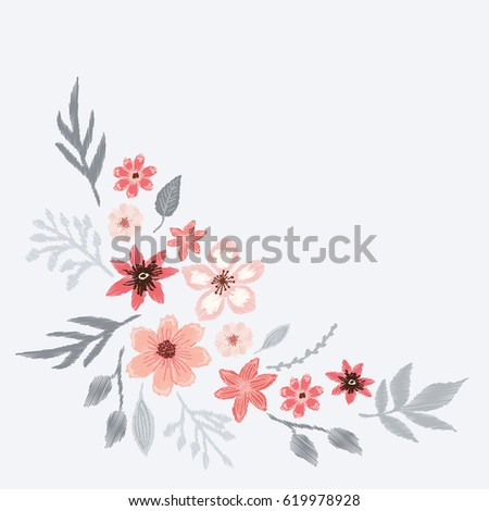 Sequin and embroidery design stock images royalty free Fashion embroidery designs