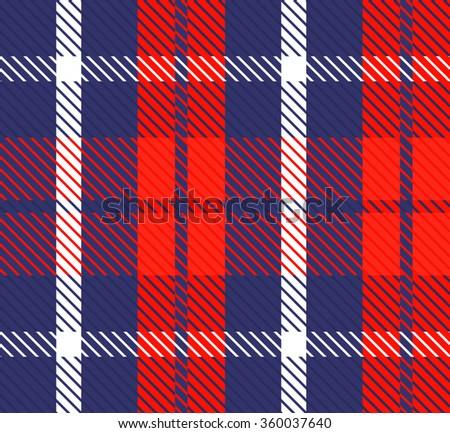 Pattern cell tissue. Orange, blue, white. Fabric texture vector. Plaid fabric. Warm pattern, ornament. Checkered British Scottish fabric. Vector. Tartan, plaid pattern background - stock vector