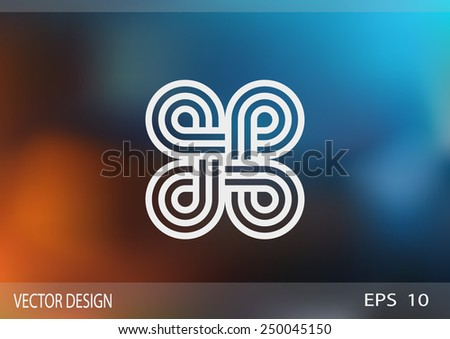 pattern decor, web icon. vector design - stock vector
