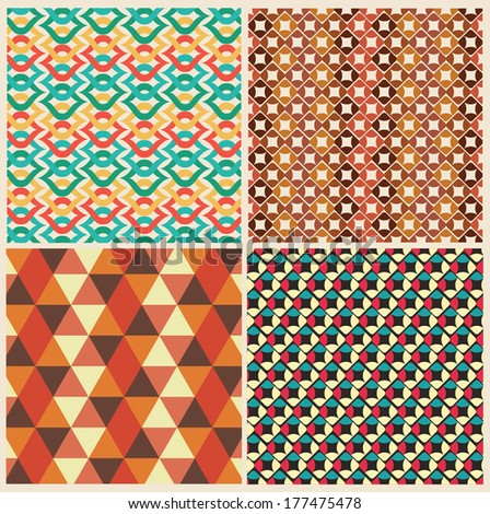 pattern design over  retro  background vector illustration