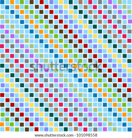 Pattern disorderly squares multicolored - stock vector