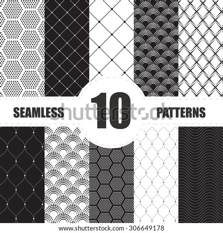 pattern dots collection - stock vector