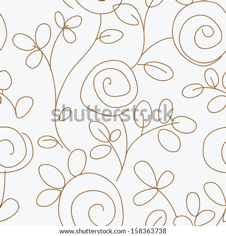 pattern floral - stock vector